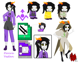 Pavira Vestan - Homestuck Troll OC [Updated name] by Rozen-Shield