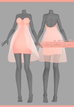 Peach Cocktail Dress [Download] by Fujiwara-no-Moko