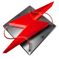 Winamp Tech Red Dock Icon by climber07