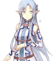 Asuna fairy blue - Sword art online by hirokiart