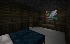 Minecraft Beta 1.3: Bedroom by chriskronen