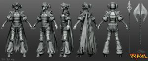 Polycount's Brawl - Hilde High Poly by YBourykina