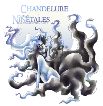 Chandelure X Alolan Ninetales [SPEED PAINT] by Seoxys6