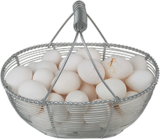 Cut out Eggs in  a basket by SolStock