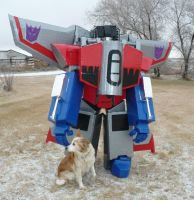 A Decepticon and His Dog by GarthTheDestroyer