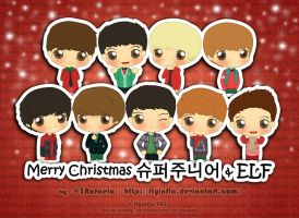 Merry Christmas Super Junior and ELF by flyinfLa