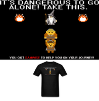 LOZ LOTR 8 Bit Shirt by Enlightenup23