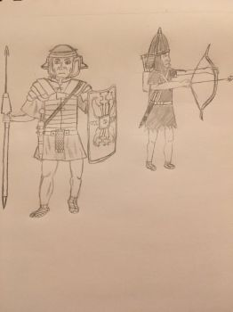 Roman Auxiliary (Rough Sketch) by VDPeruvian
