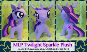 Handmade Large MLP Twilight Sparkle Plush by SowCrazy
