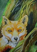 Fox In The Wood (For Sale) by Ezekiel-J
