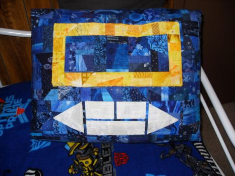 Soundwave Pillow by nkfloofiepoof