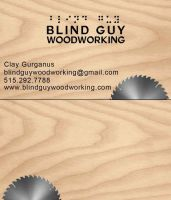 Blind Guy Woodworking Business Card by Marczsewski