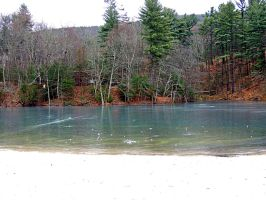 Fuller Lake In Winter 01 by TemariAtaje