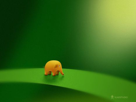 Micro Animals - Elephant by vladstudio