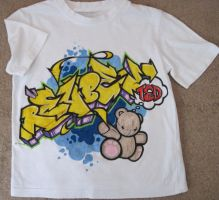 Hand painted T Shirt by EUKEE