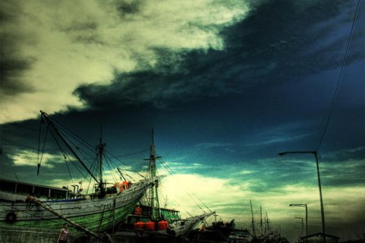 Boat and Sky by vemano88