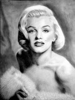 Marilyn Monroe Portrait by TeikoS
