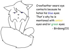 Crowfeather -- Secret Revealed! (MS Paint version) by Birdsong231