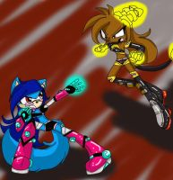 punky vs Glitch by queenmafdet