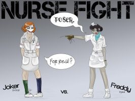 Nurse Fight - Joker vs Freddy by liliy