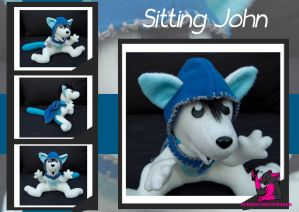 Sitting John - Plush Com. by FurryFursuitMaker