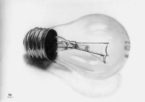 Drawing - Photorealistic Bulb by b03tz