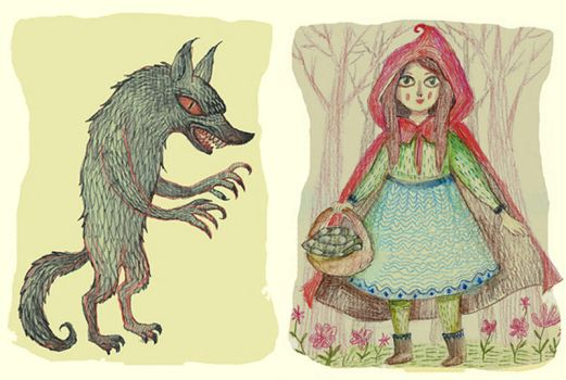 Big Bad Wolf and Little Red Riding Hood by V-L-A-D-I-M-I-R