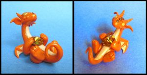 Topaz Orange Dragon by DragonsAndBeasties