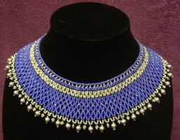 Blue and silver netted collar by ladytech