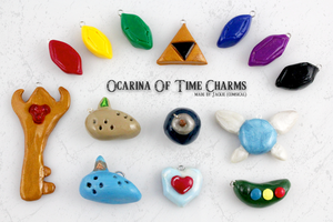 Legend of Zelda OOT Clay Charms by Comsical