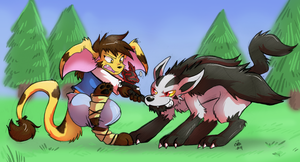 Commission - Tug-of-War by raizy