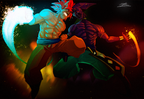 Battle of Gods by DonoArtz