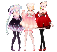 my two favs FT miku by 00psy