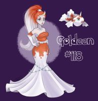 Goldeen Pinup by FlavorlessMuffin