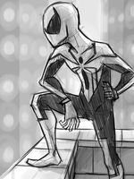 Scarlet Spider Sketch by thelivingmachine02