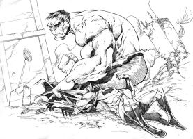 hulk vs batman by Jimbrothers