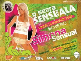 flyer Club TAO - Simona Sensua by semaca2005