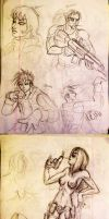 Vacation Sketchdump by PhiTuS