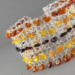 Shades of Amber Sterling Bracelet - Front by RavenBaubles