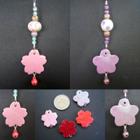 Polymer Clay Flower Charms by hikarisama