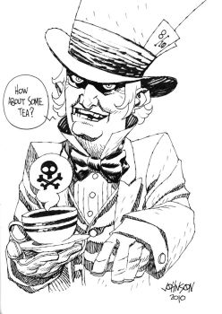 Mad Hatter con sketch by Devilpig
