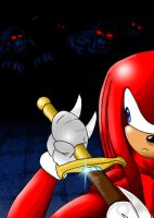 Knuckles about to battle by RealRemainder