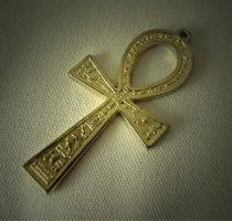 Golden Ankh by aninur