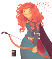 Merida with palette 15 by moonlight-dragonart