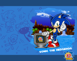 Anniversary Wallpaper: Sonic by Professor-J