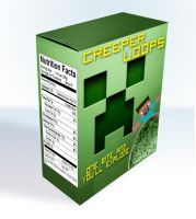 MineCraft Cereal Creeper Loops by MikeyYaden