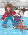 Ice Fishing With Pals by Cyberboy7000