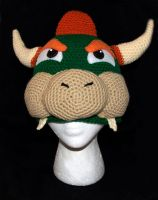 Bowser Beanie by rainbowdreamfactory