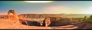 Delicate Arch Panorama by grixpix