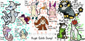 REDUCED PRICES Crosses, Fusions, and Fluffs by chibimaker